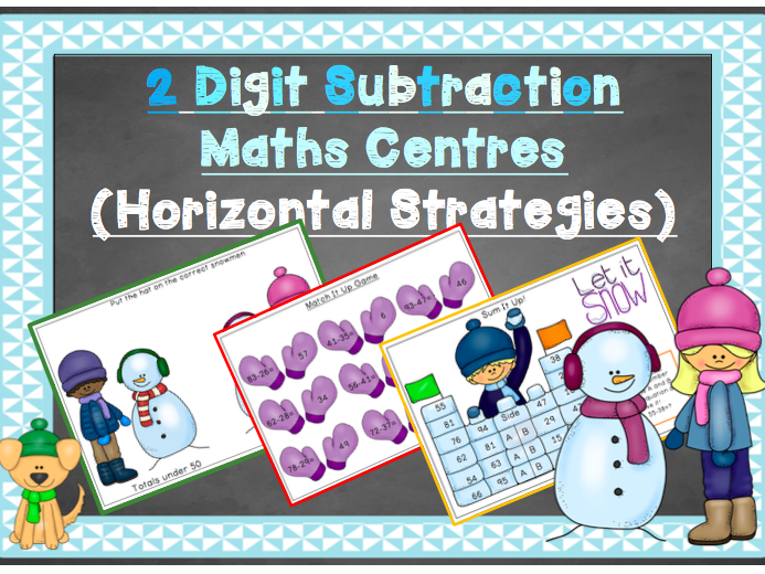 2 Digit Subtraction Maths Centres (Horizontal Strategies)