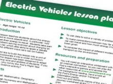 Electric vehicles lesson plan