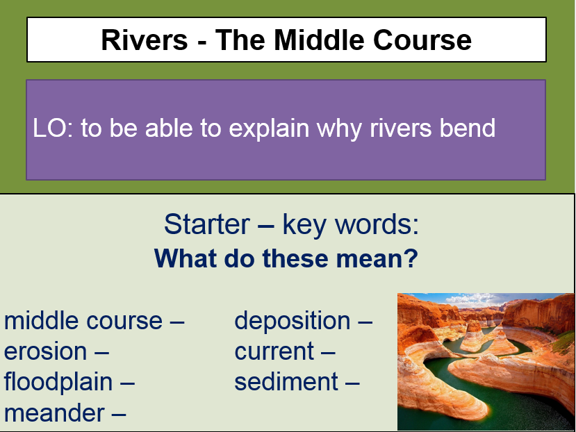 Rivers - middle course (meanders)