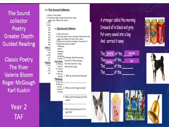 Guided Reading Poetry The Sound Collector Roger McGough Year 2