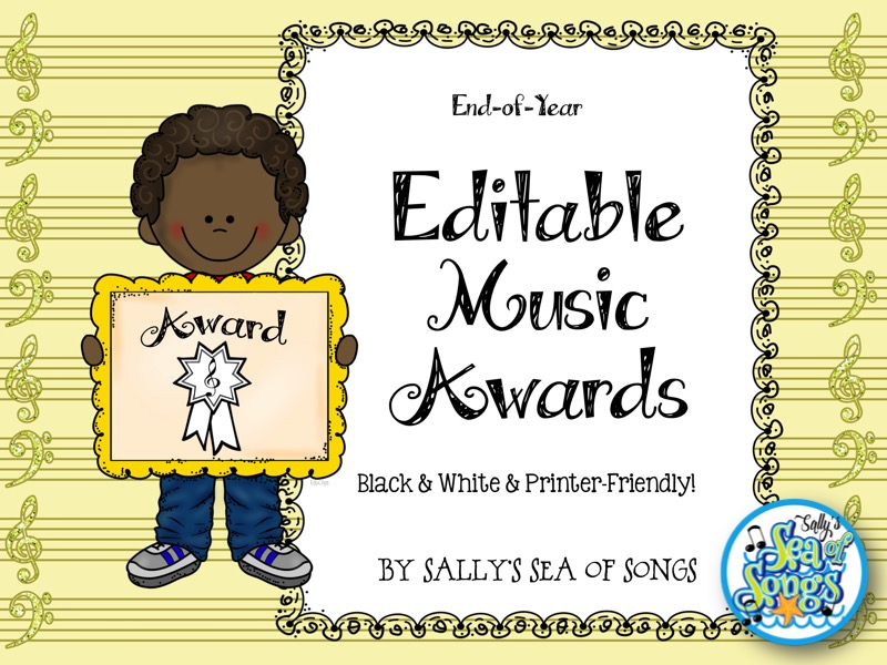 End of Year Editable Music Awards