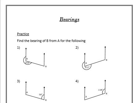 10 GCSE Foundation Geometry Worksheets