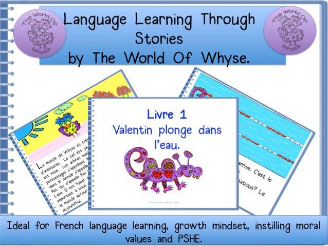 Original French Story  for KS2 & KS3 pupils  'Valentine Plonge Dans L'Eau' & complete resource pack.