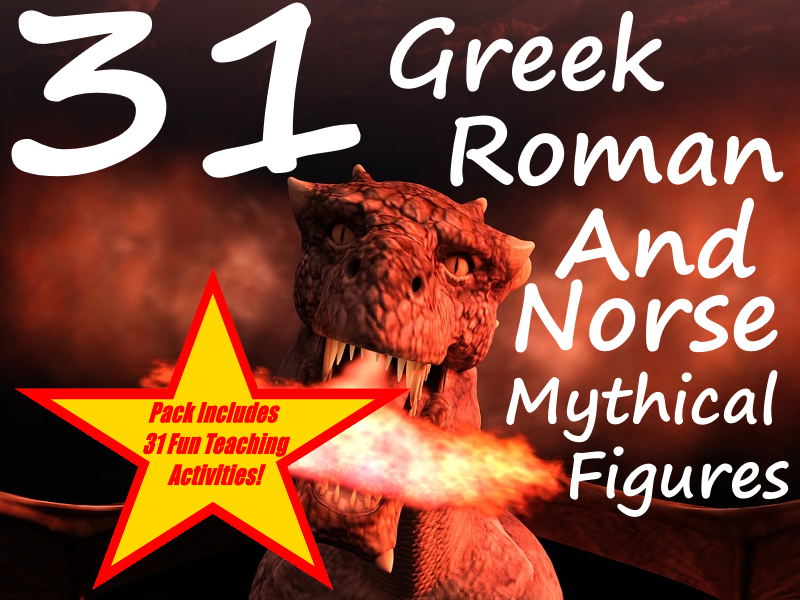 31 Images Of Greek, Roman and Norse Myths + 31 Fun Teaching Activities For These Cards