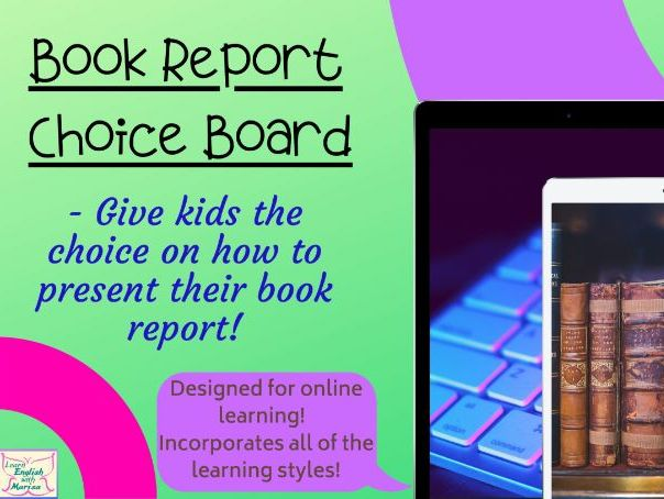Book Report for Distance Learning