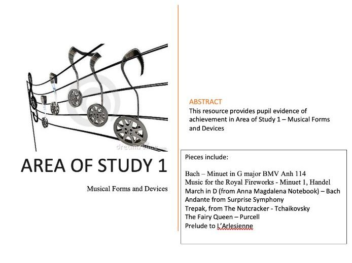 WJEC GCSE MUSIC Area of Study 1 - Musical Forms and Devices