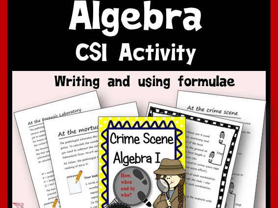 CSI Algebra - Writing and Using Formulae