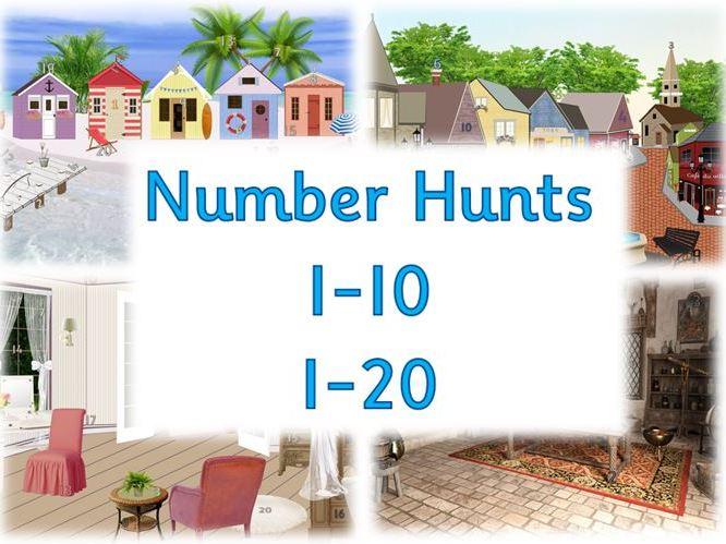 Number Hunts - Numeral Recognition bundle
