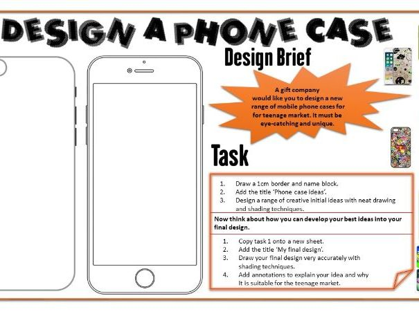 Design a phone case - great cover work for art or design