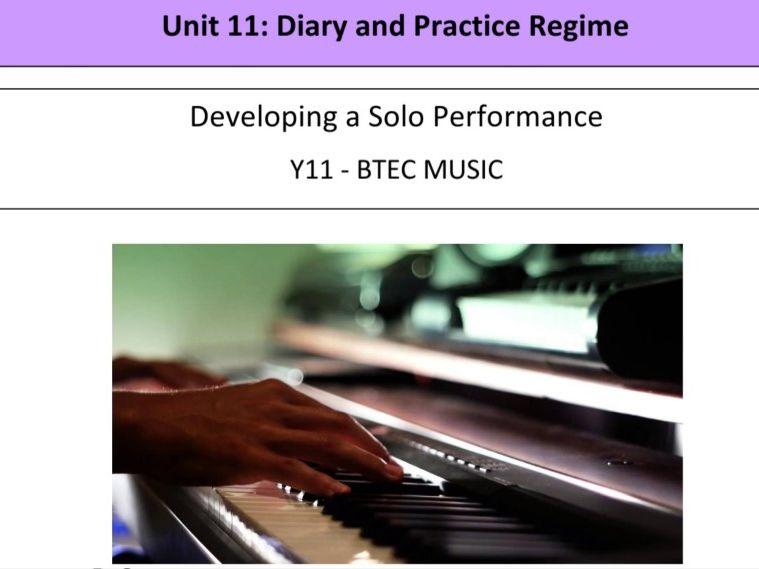BTEC Music Unit 11 Work Booklet