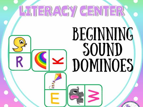 Beginning Sounds Dominoes (Literacy Center)