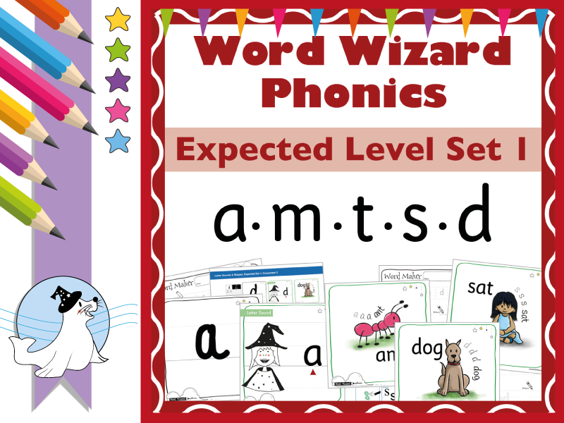 Word Wizard Phonics Expected Set 1: a.m.t.s.d
