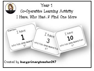 Year 1-Place Value-I Have, Who Has? Count One more