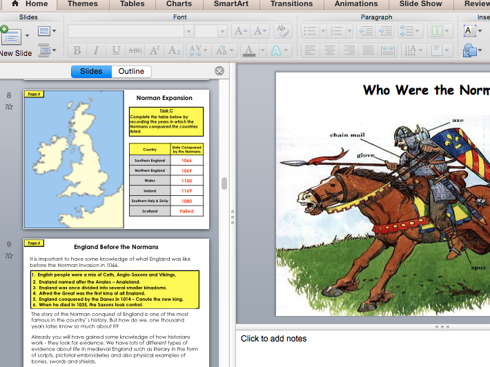 Who were the Normans? (PowerPoint to accompany pupil workbook)