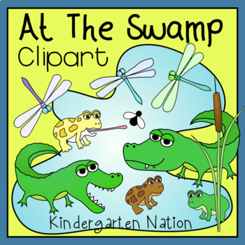 Creatures At The Swamp Clip Art, Color And B&W Transparent PNG Images