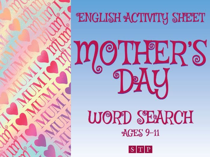 Mother's Day Word Search Activity Sheet