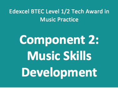 BTEC Tech Award in Music Practice: Component 2