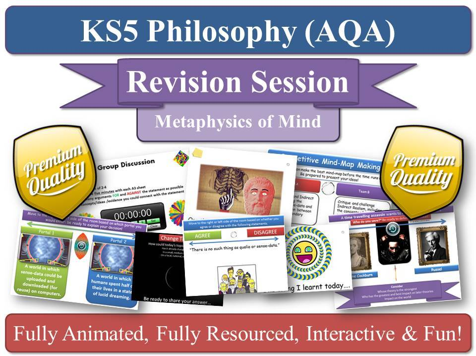 Eliminative Materialism ( AQA Philosophy ) Metaphysics of Mind - Revision Session AS/ A2 KS5