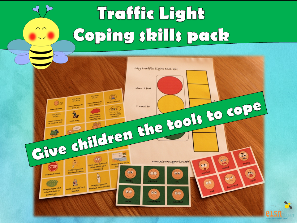 ELSA SUPPORT - Traffic light toolkit for emotions, coping skills, calming, relaxation, regulation