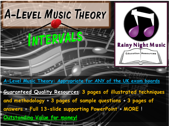 A-LEVEL MUSIC THEORY LESSON - ALL EXAM BOARDS - HARMONY & TONALITY: INTERVALS - WHOLE LESSON