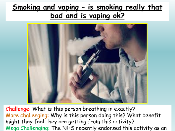Vaping and Smoking PSHE