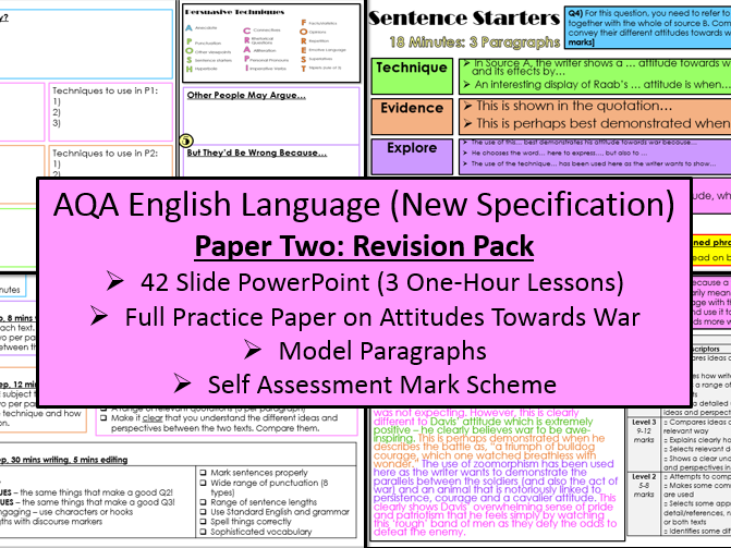 English Language Intervention Revision Booklet Aqa 9 1 Gcse By