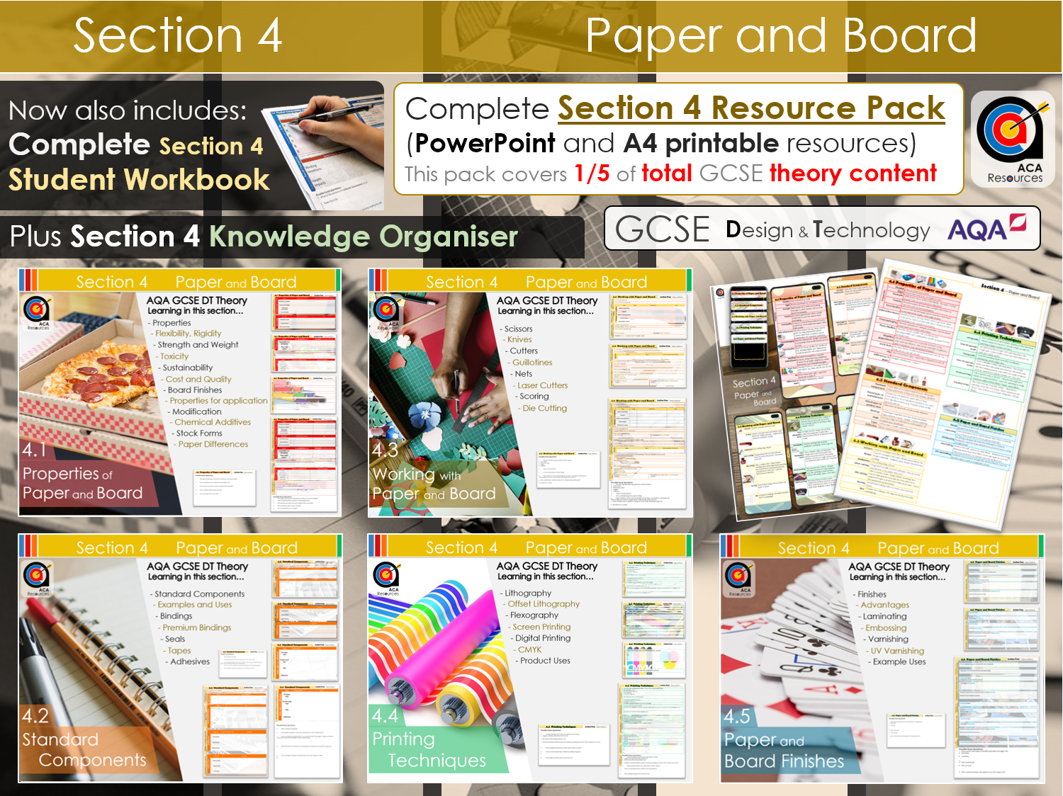 AQA GCSE DT -4- Paper and Board