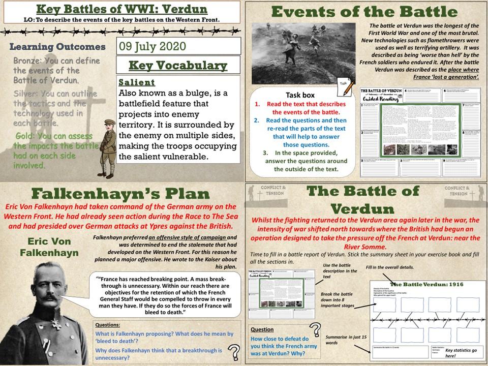 Conflict & Tension 1894 - 1918: Verdun