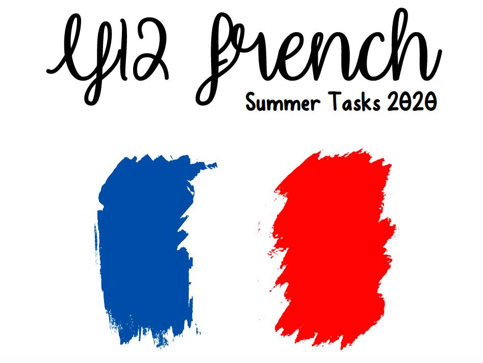 Pre-Alevel French Summer Workbook