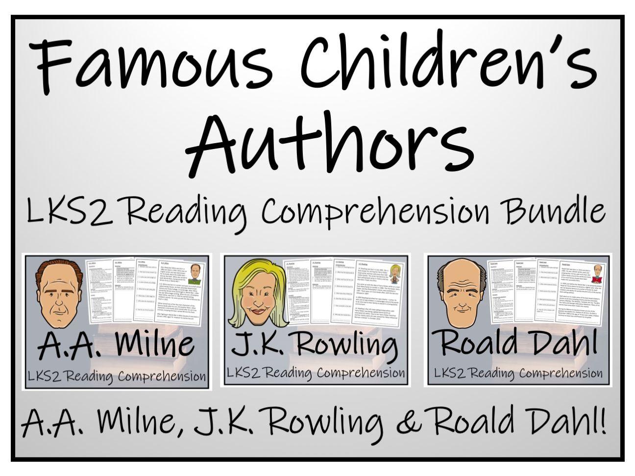 LKS2 - Greatest Children's Author Reading Comprehension Bundle