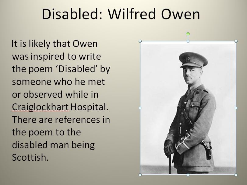 Disabled: Wilfred Owen
