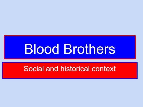 Blood Brothers Historical Context Grid GCSE AQA