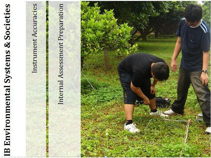 IB DP Environmental Systems & Societies - IA Preparation - Instrument Accuracy Pack