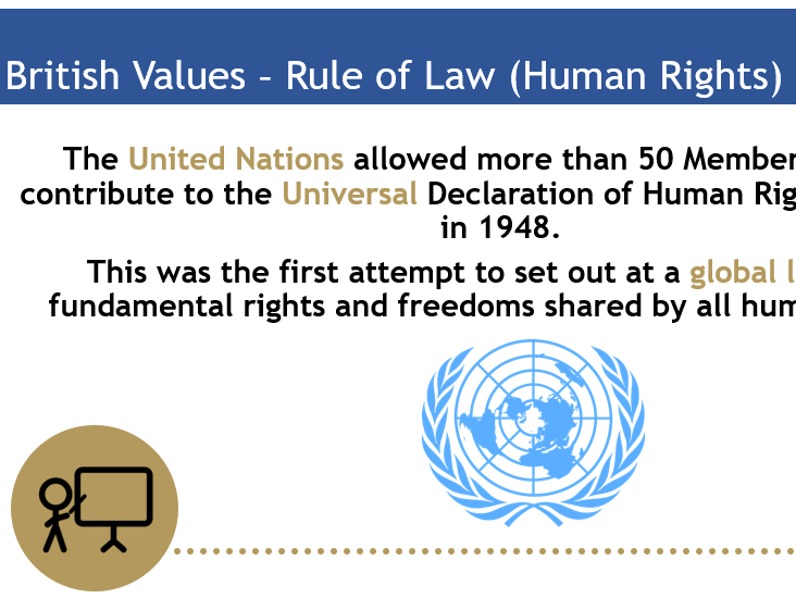 British Values Assembly - Rule of Law/Human Rights