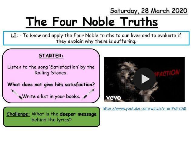 The Four Noble Truths (KS3)