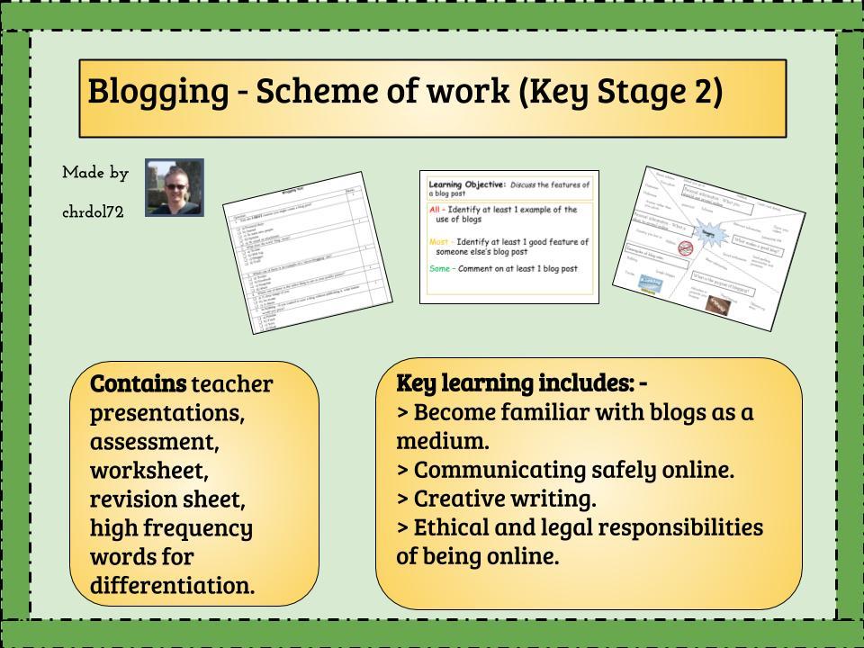 Blogging and Digital Literacy - scheme of work