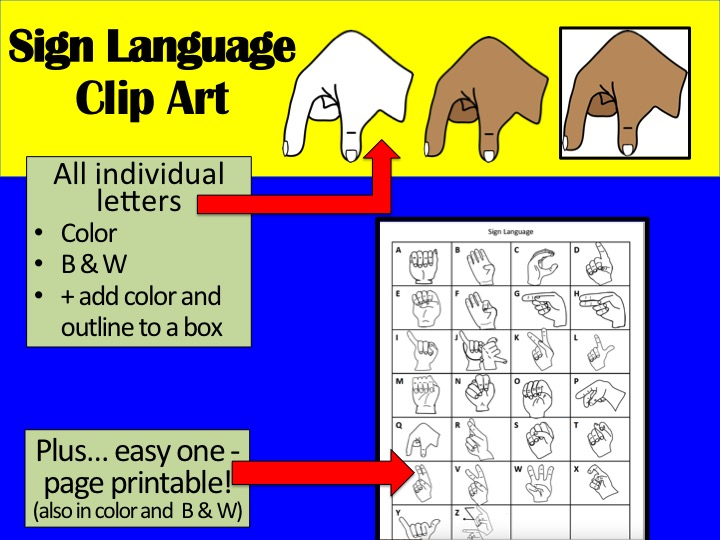 Sign Language Clip Art