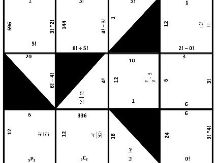 Factorial Matching Puzzle