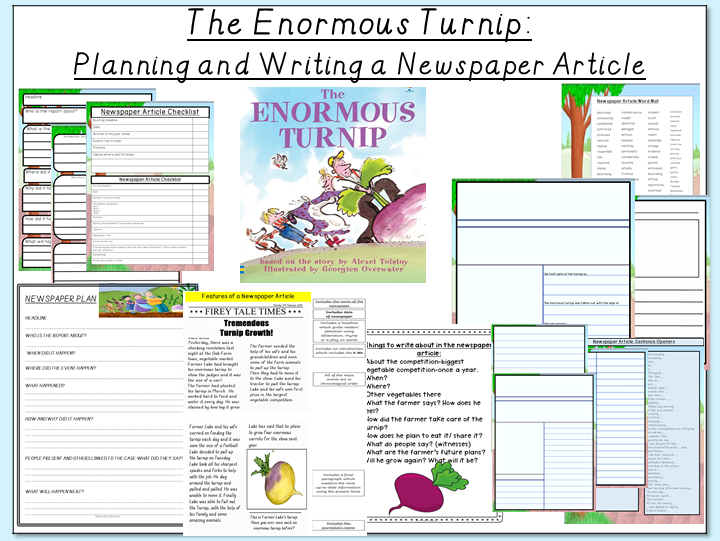 The Enormous Turnip- Planning and Writing a Newspaper Article