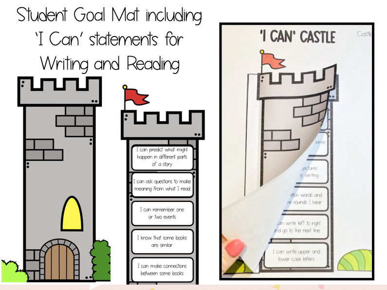 'I Can' Castle for Prep/Foundation – Student Goal Mat for Writing and Reading