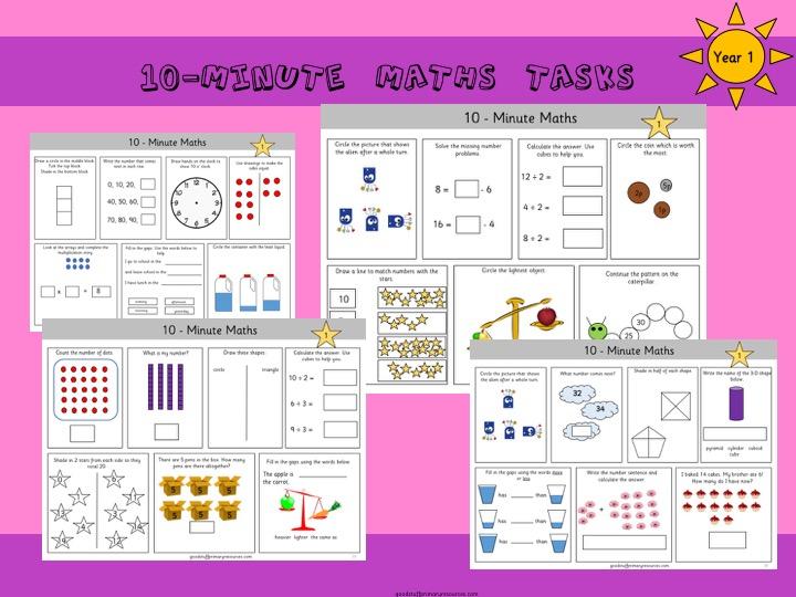 Year 1 10-minute maths tasks