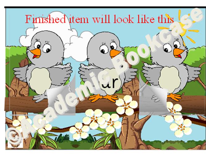 Birds word maker - Phase 3 'ur' words