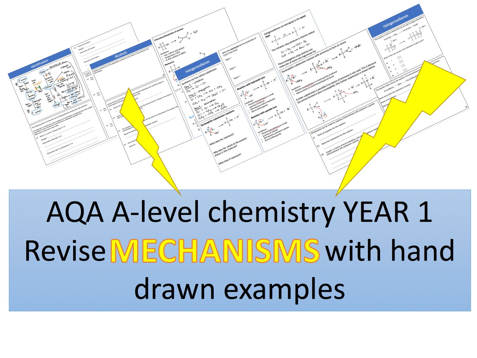 New AQA Chemistry Year1 Revision Mat/Grid Mechanisms Bundle