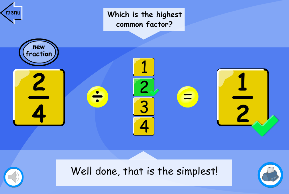 Simplifying Fractions Interactive Activity- KS2 Number