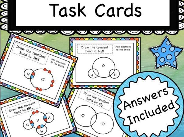 Covalent Bonding Task Cards
