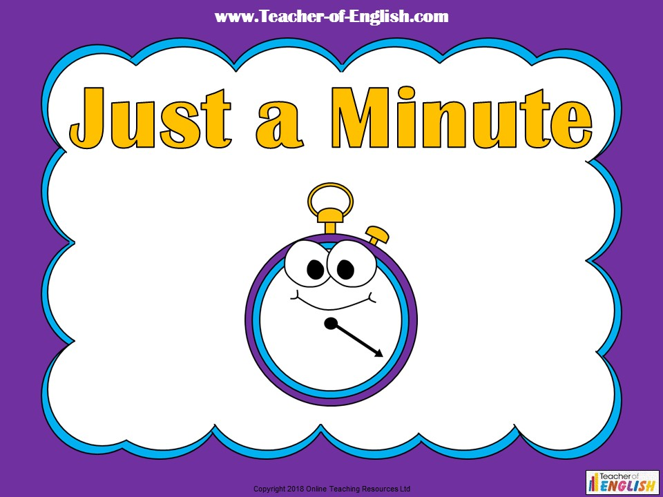 Just a Minute - Starter Activity