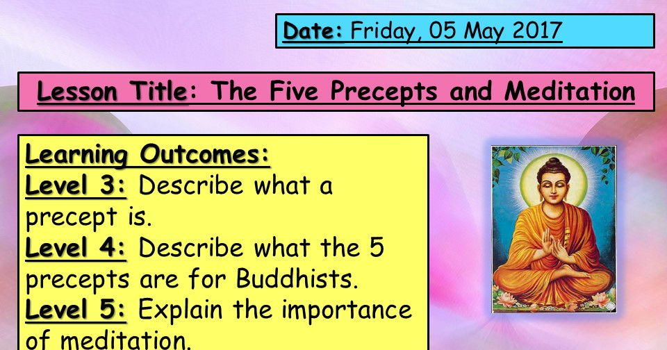 Five Precepts and Meditation- KS3 Buddhism