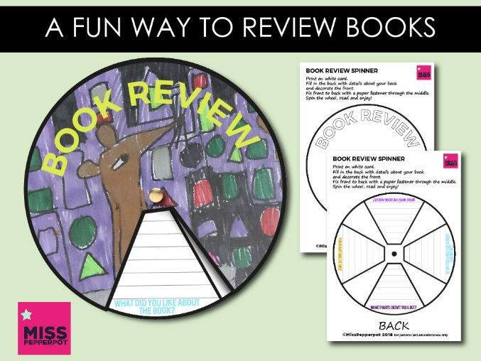 Book Review, Book Review Format, Book Review Spinner, Book Review Display