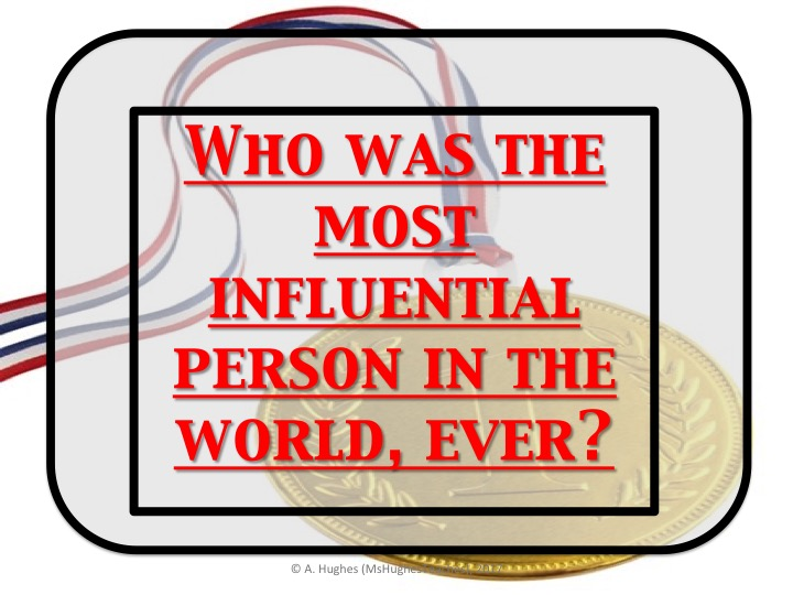 Who is the most important person in History, ever? History Mystery Enquiry.