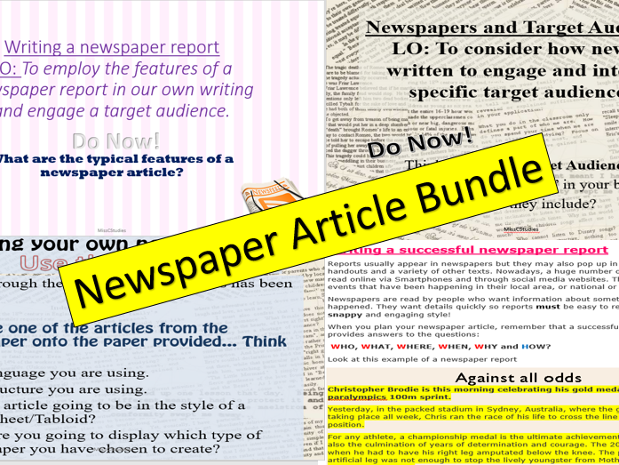 Newspaper Article Bundle